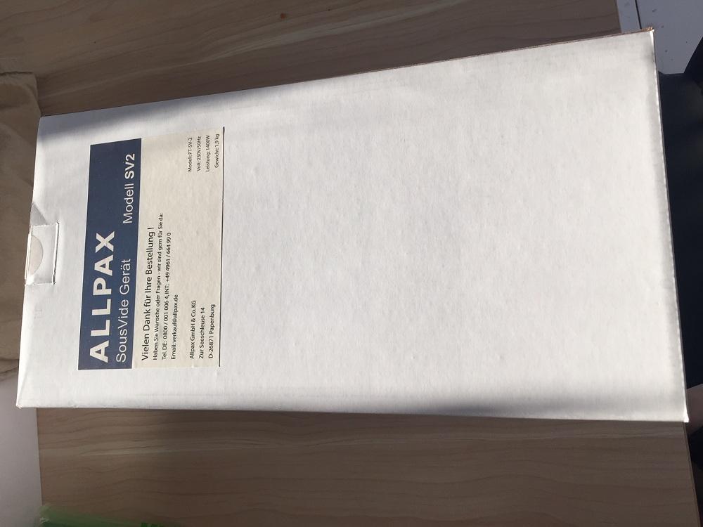 Verpacktes Allpax SV2