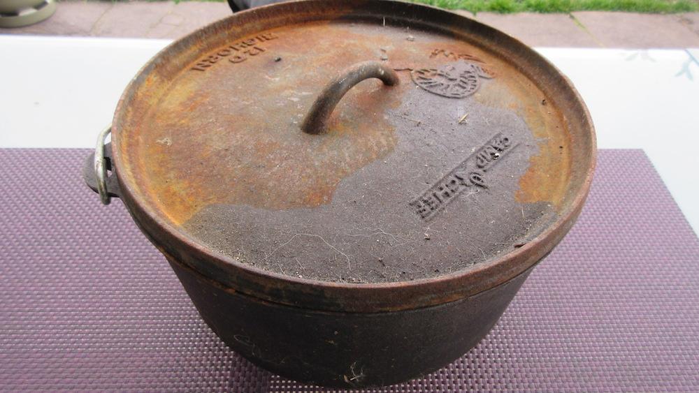 Dutch Oven, Deckel stark verrostet