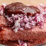 Hack,Zwiebel + BBQ-Sauce