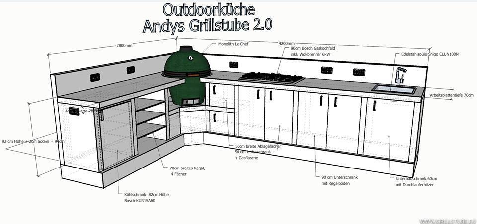 Bauplan kuche for Outdoorkuche mit grill