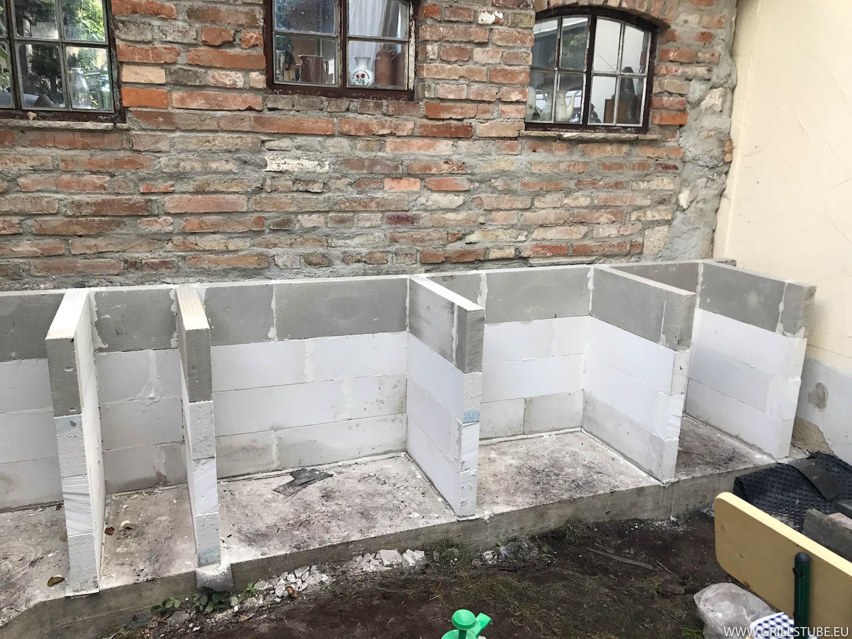 Outdoor Küche Unterbau : Outdoorküche der ytong unterbau steht andys grillstube