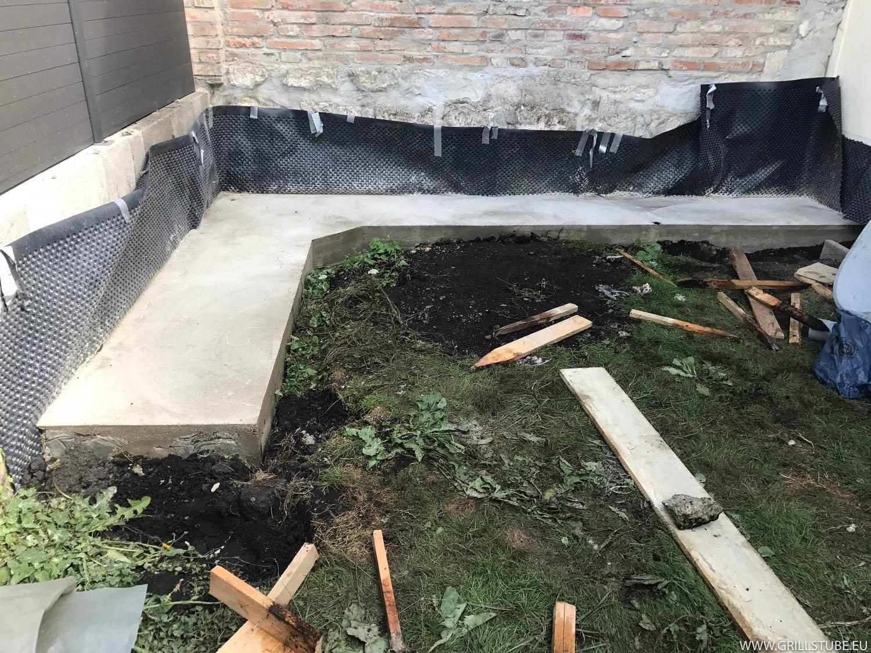 Outdoor Küche Fundament : Outdoorküche das fertige fundament andys grillstube