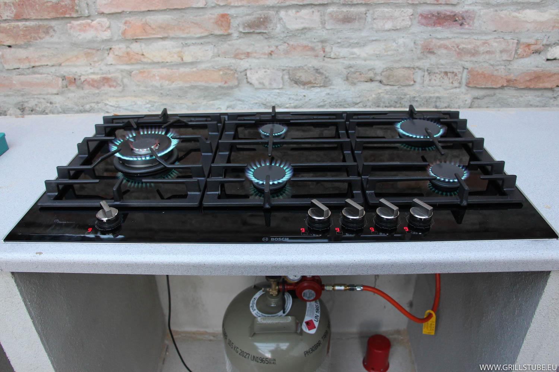 Outdoorküche Arbeitsplatte Anleitung : Outdoorküche gaskochfeld prov arbeitsplatte andys grillstube