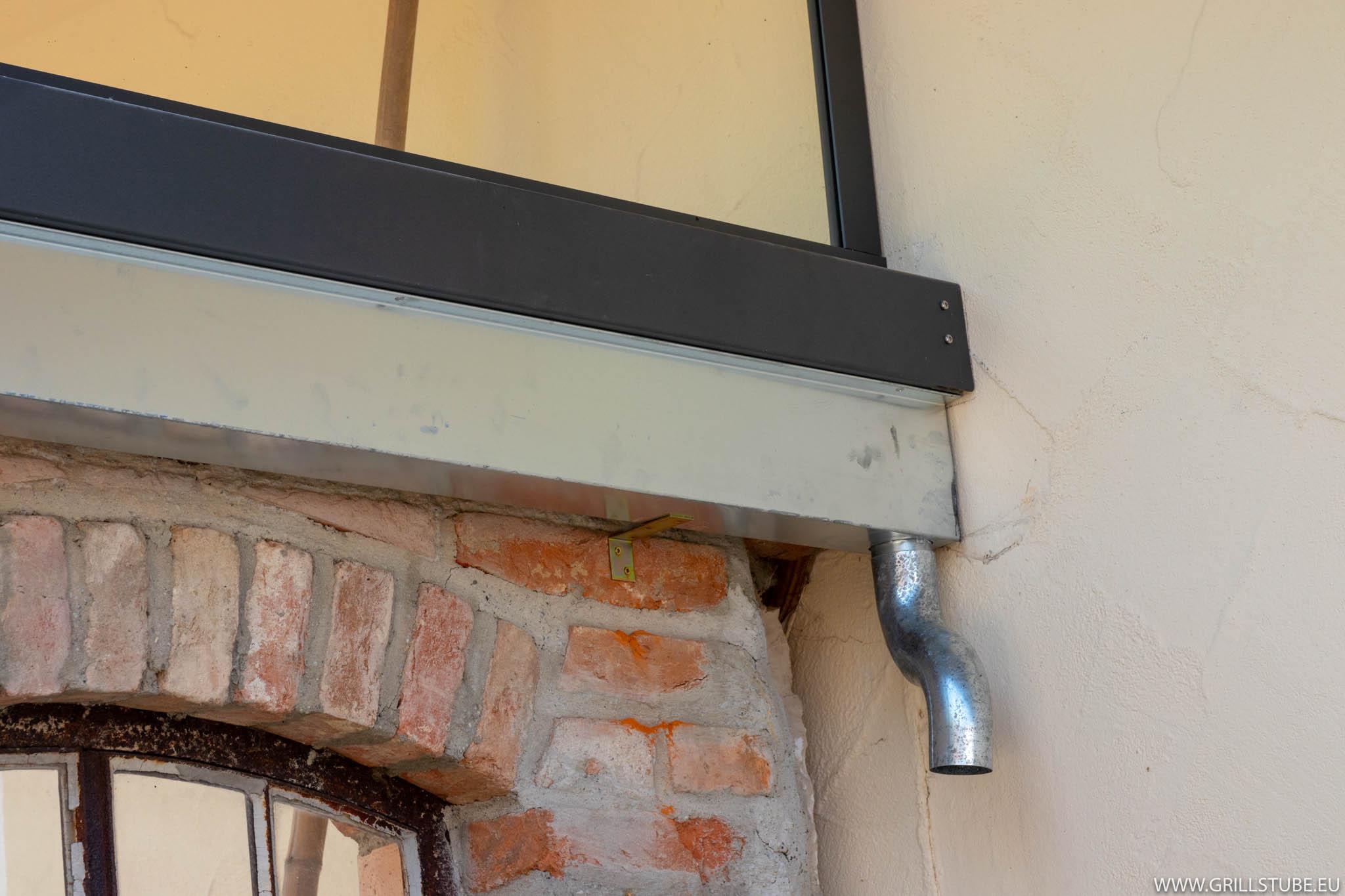 Outdoor Küche Steinmauer : Outdoorküche spenglerarbeiten regenschutz andys grillstube