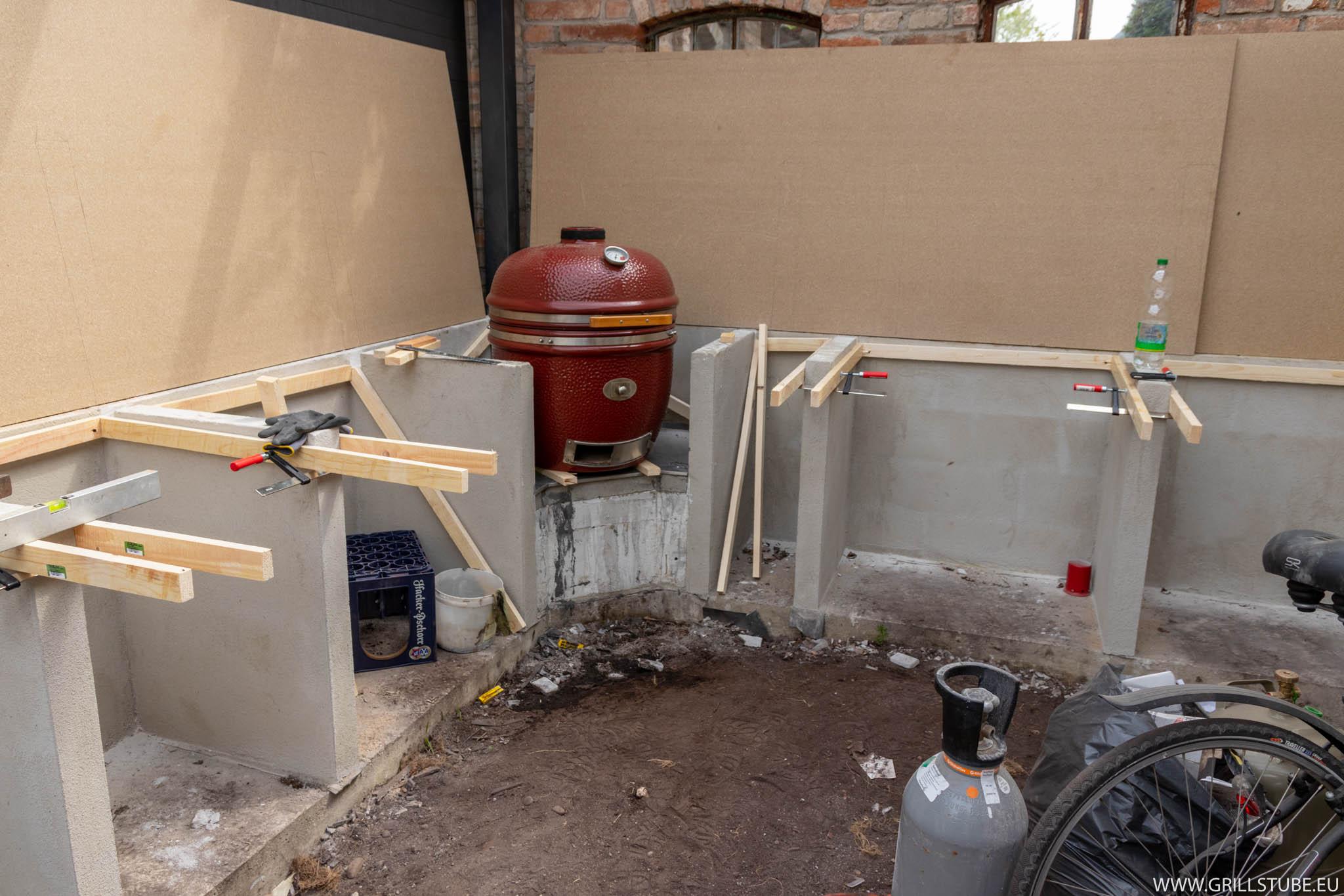Outdoor Küche Kugelgrill : Outdoorküche: schalung der arbeitsplatte teil1 andys grillstube 2.0