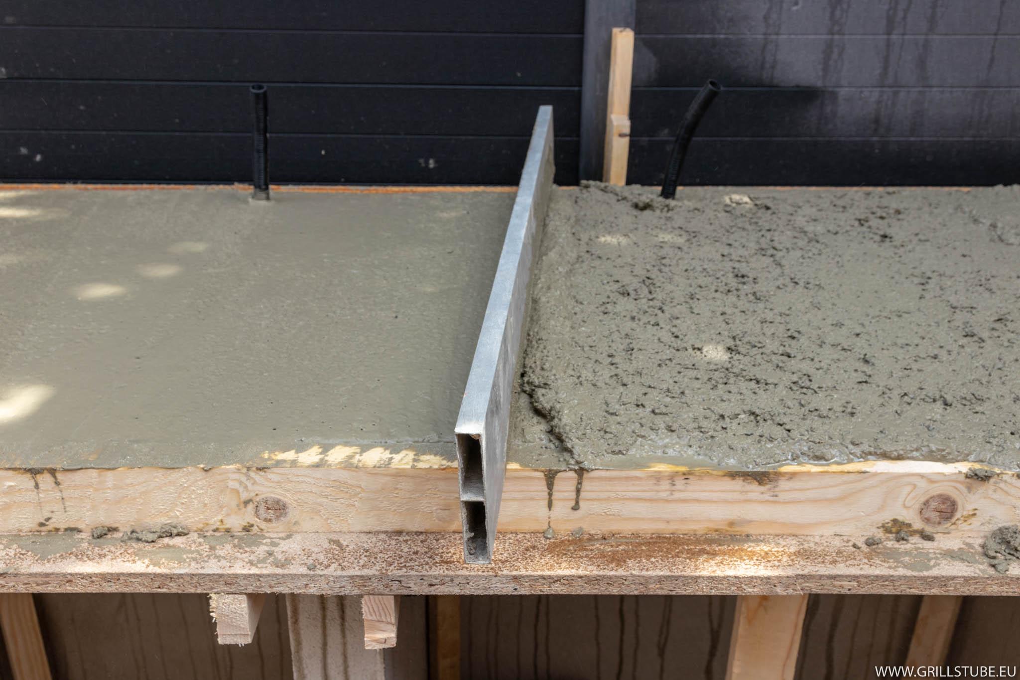 Outdoorküche Arbeitsplatte Test : Outdoorküche betonieren der arbeitsplatte andys grillstube