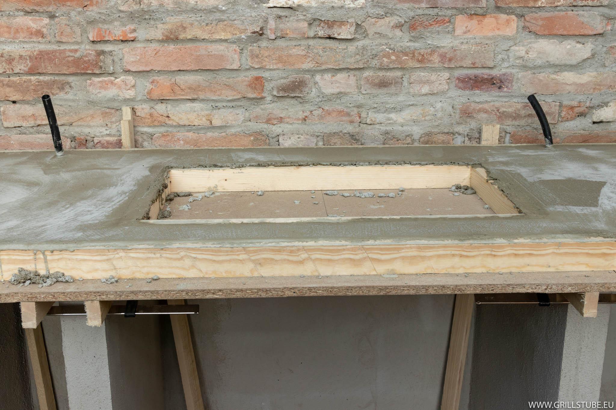 Outdoor Küche Beton Arbeitsplatte : Outdoorküche betonieren der arbeitsplatte andys grillstube
