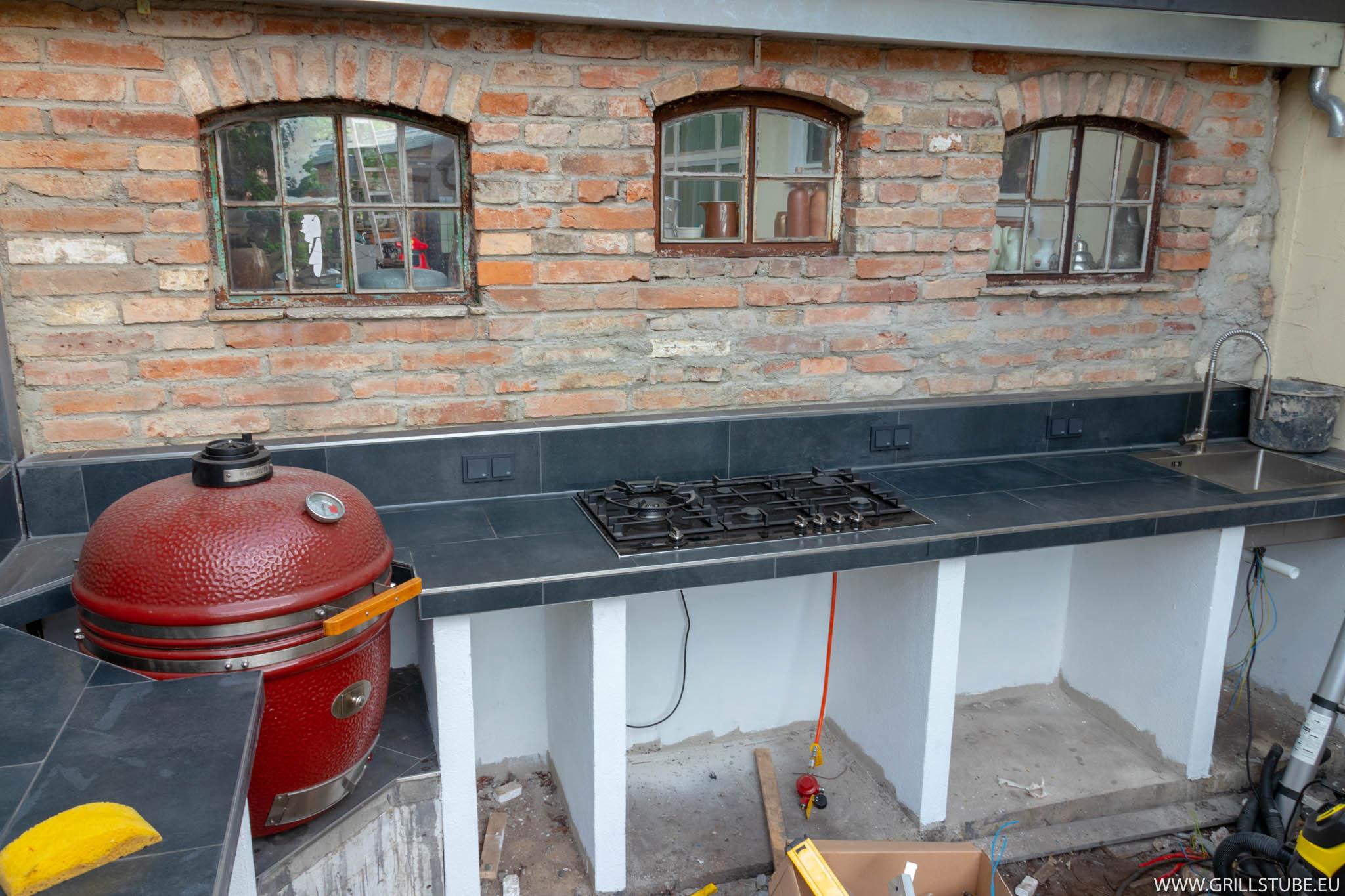 Outdoorküche Arbeitsplatte Ikea : Outdoorküche: elektroinstallation einbau geräte andys grillstube 2.0