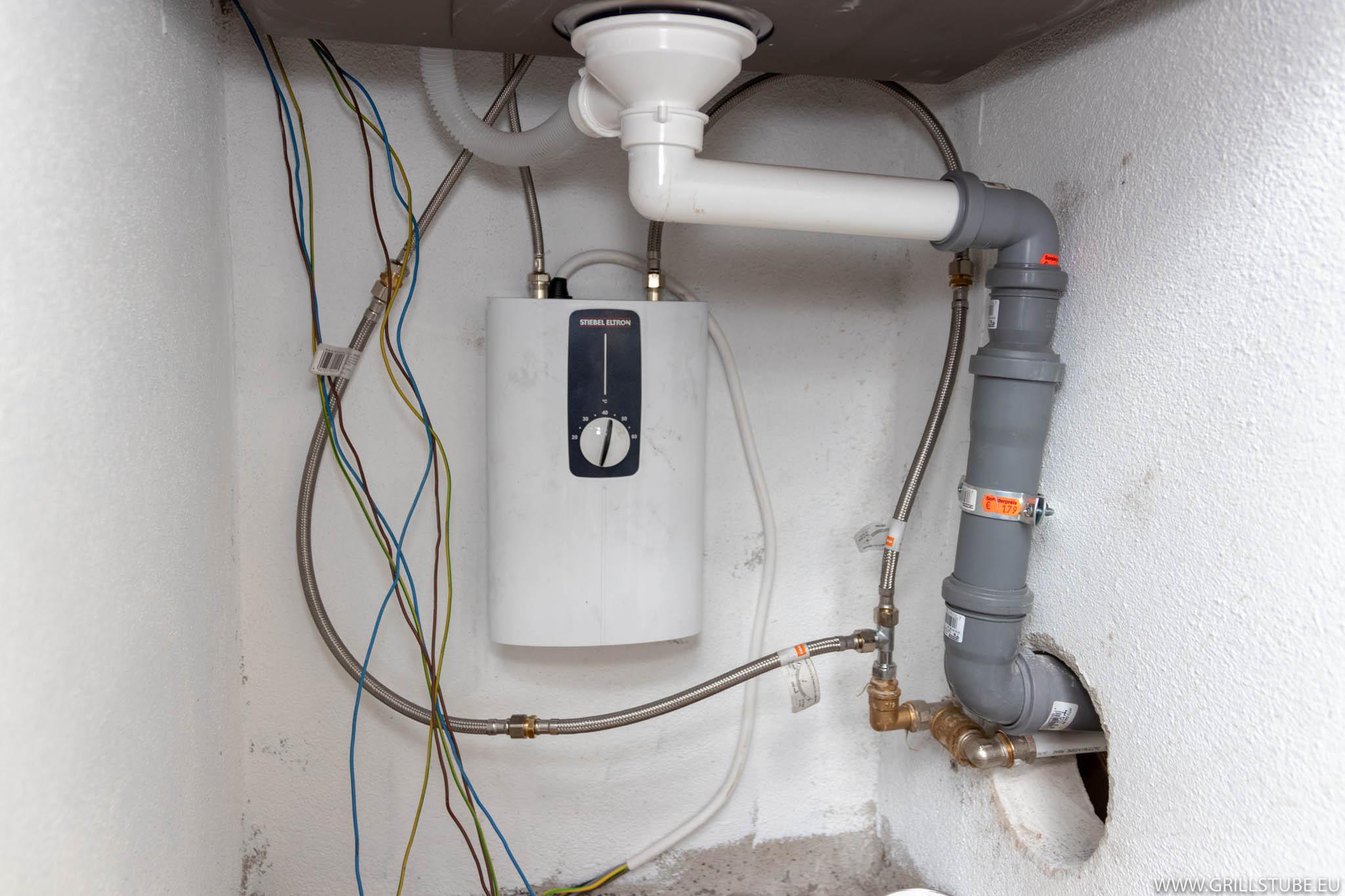Outdoorküche: Wasserinstallation  Andys Grillstube 16.16