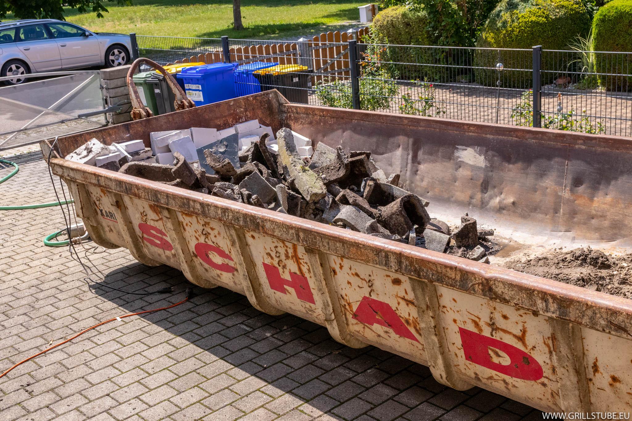 Outdoorküche Stein Facebook : Outdoorküche bauschutt vorbereitung fürs pflastern andys