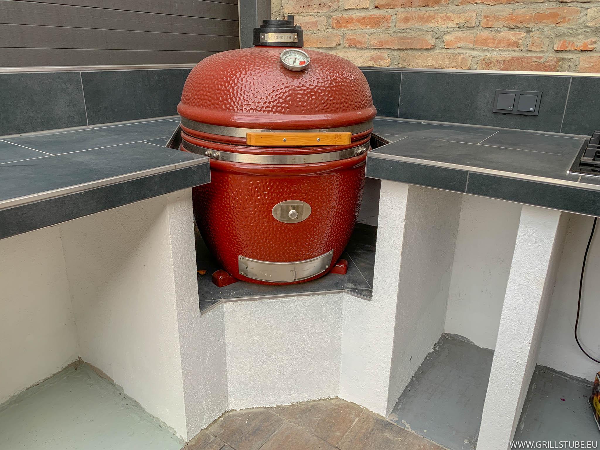 Outdoor Küche Verputzen : Outdoorküche: keramikgrillpodest verputzen streichen andys